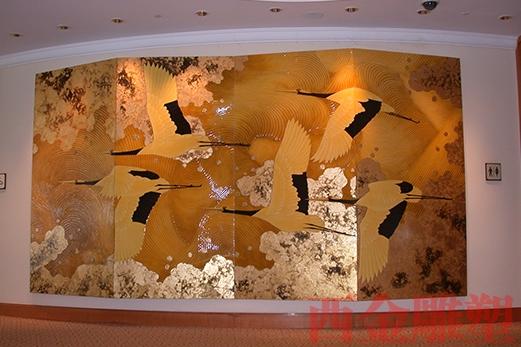 广州曲美酒店壁画