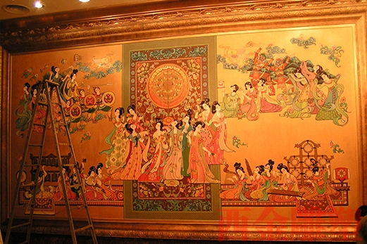 唐乐宫壁画