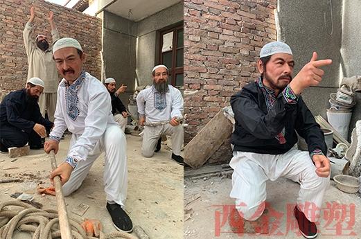 新疆奇台县坎儿井博物馆  浮雕 蜡像